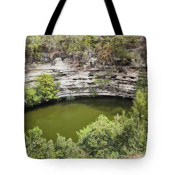 Cenote Sagrado At Chichen Itza Tote Bag