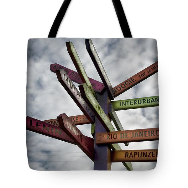 Center Of The Universe Tote Bag by Joanna Madloch