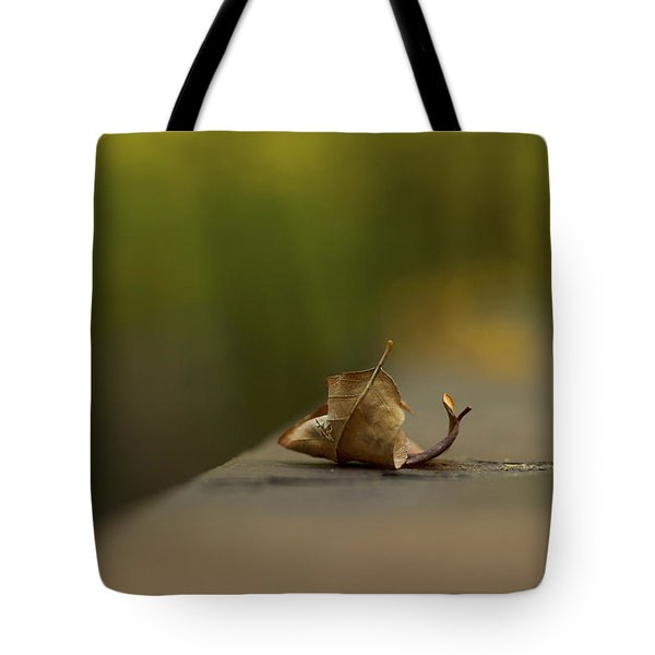 Center Stage 2 - A Single Leaf Tote Bag by Jane Eleanor Nicholas
