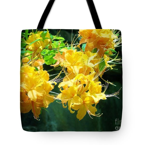 Centered Yellow Floral Tote Bag