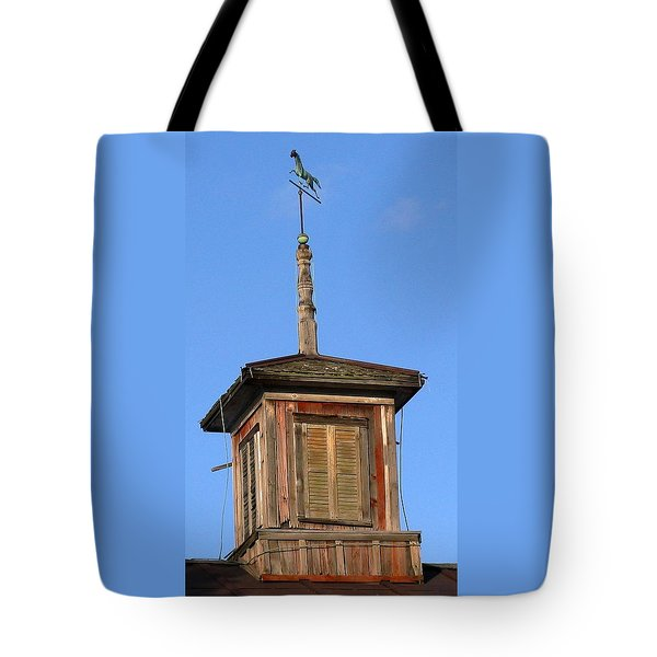 Centered Weathervane Tote Bag by Debbie Finley