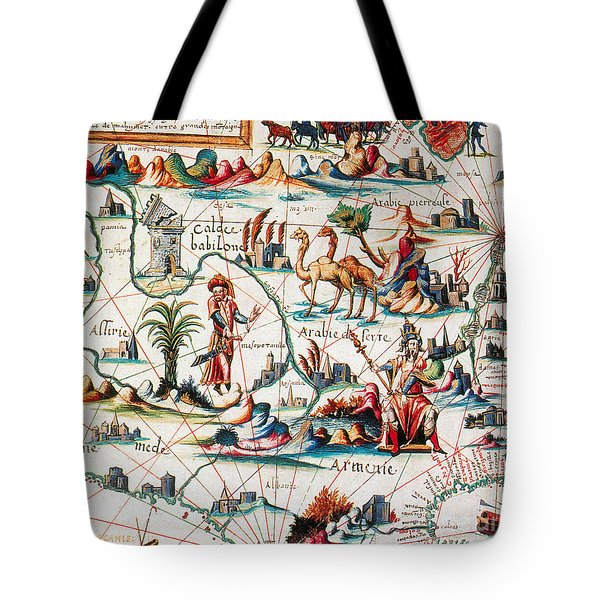 Central Asia Pierre Descelierss Map Tote Bag by Photo Researchers