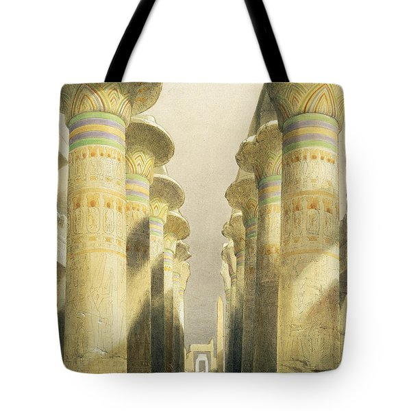 Central Avenue Of The Great Hall Of Columns Tote Bag by David Roberts