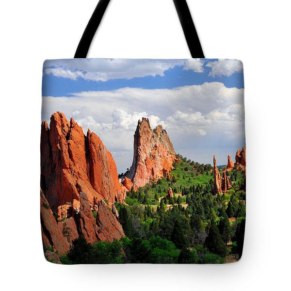 Central Garden Of The Gods Park Tote Bag by John Hoffman