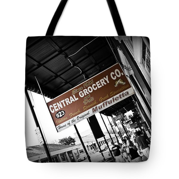 Central Grocery Tote Bag by Scott Pellegrin