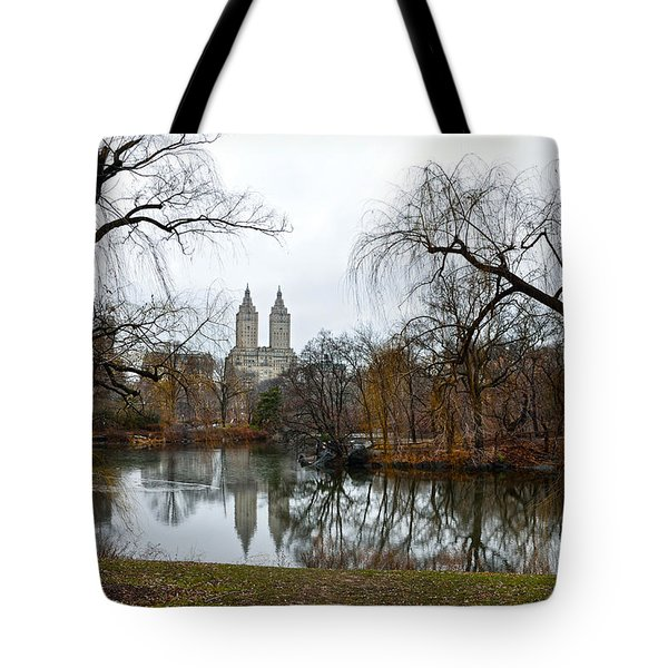 Central Park And San Remo Building In The Background Tote Bag by RicardMN Photography