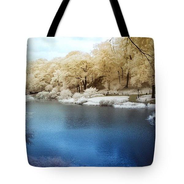 Central Park Lake Infrared Tote Bag