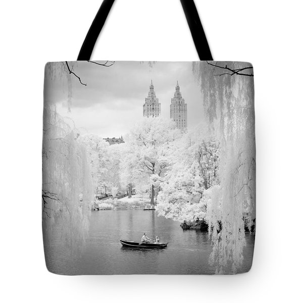 Central Park Lake-infrared Willows Tote Bag