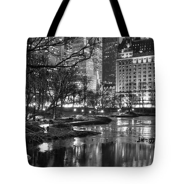 Central Park Lake Night Tote Bag
