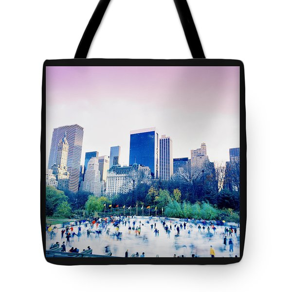 New York In Motion Tote Bag by Shaun Higson