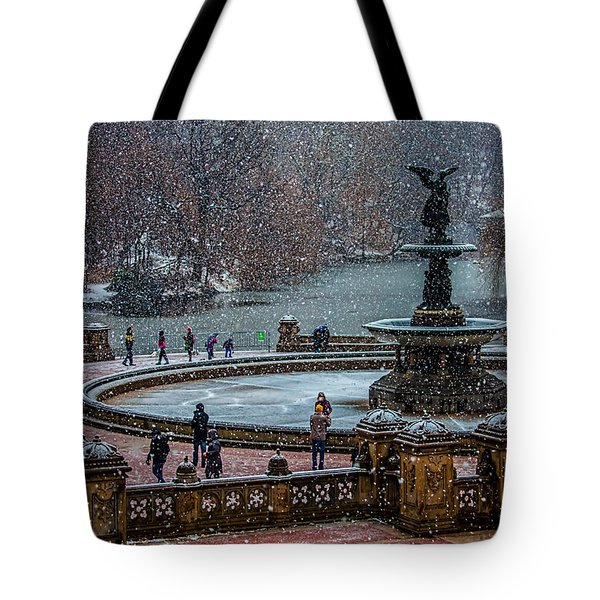Central Park Snow Storm Tote Bag