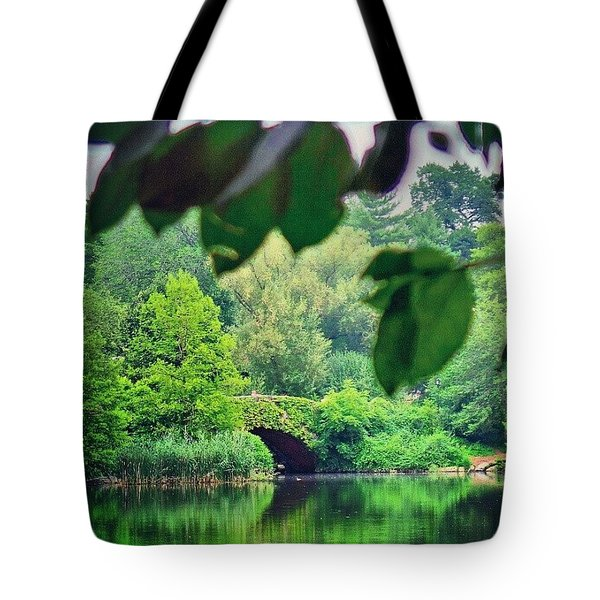 Green Nyc Tote Bag