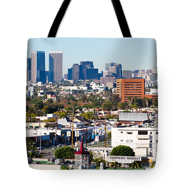 Century City, Beverly Hills, Wilshire Tote Bag by Panoramic Images