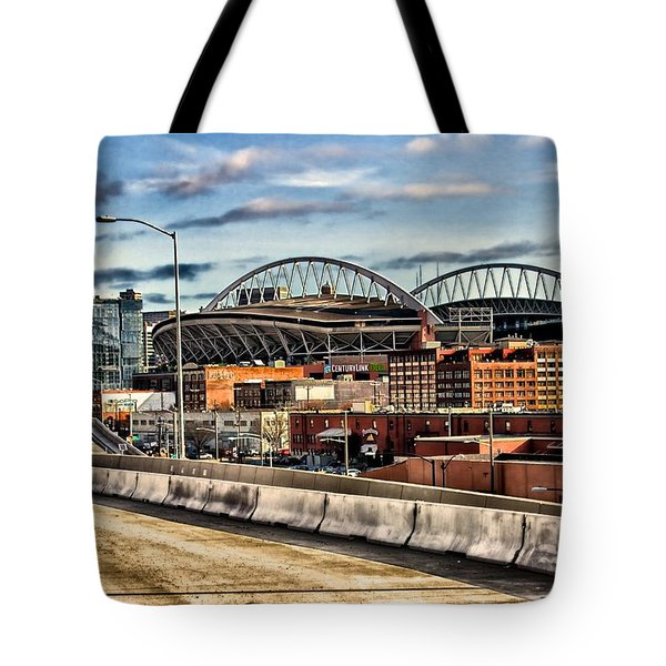Tote Bag featuring the photograph Century Link Field Seattle Washington by Michael Rogers