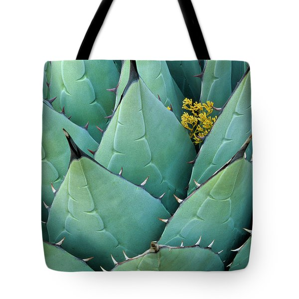 Century Plant And Tiny Blossom Tote Bag by Inge Johnsson