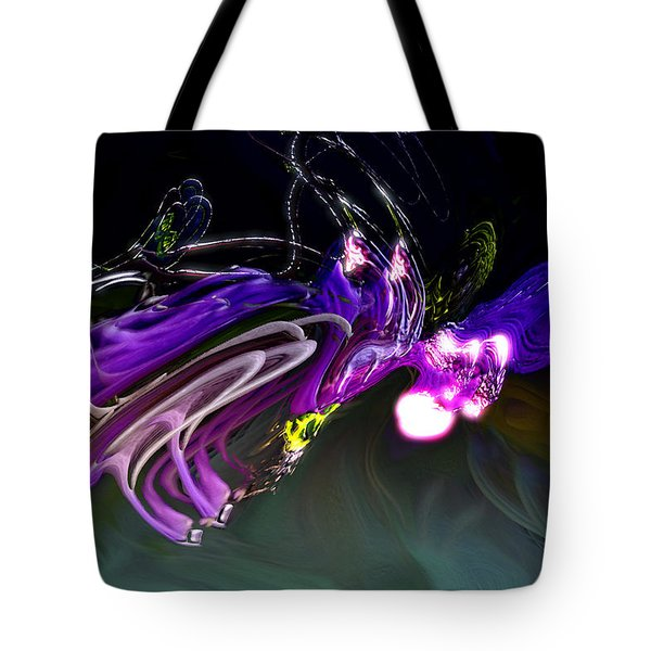Tote Bag featuring the digital art Cerebral Backlash by Richard Thomas