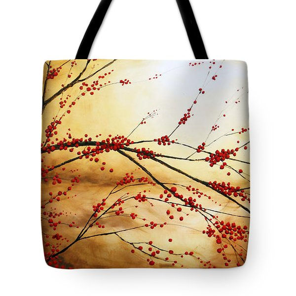 Cerezo Iv Tote Bag by Angel Ortiz