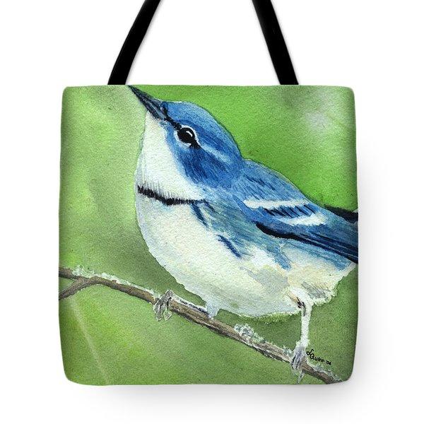 Cerulean Warbler Tote Bag