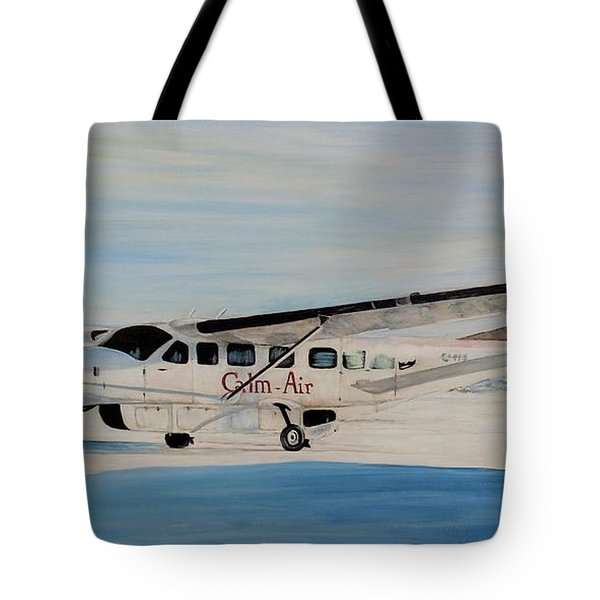 Tote Bag featuring the painting Cessna 208 Caravan by Marilyn  McNish