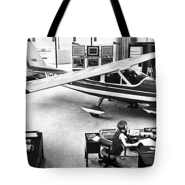 Cessna In A Bank Tote Bag