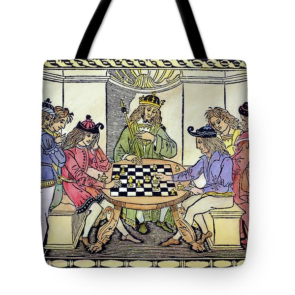 Tote Bag featuring the painting Cessolis Chess, 1493-94 by Granger