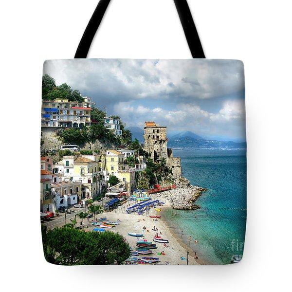 Cetara. Amalfi Coast Tote Bag by Jennie Breeze