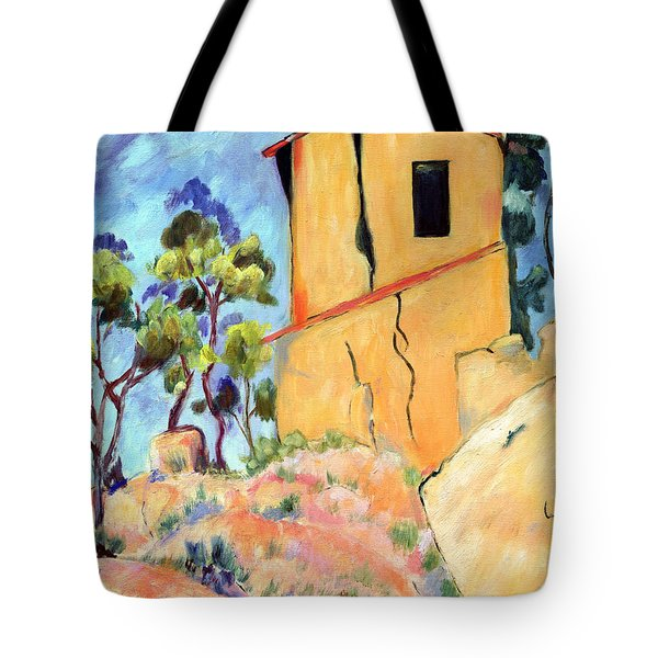 Cezanne's House With Cracked Walls Tote Bag by Jamie Frier