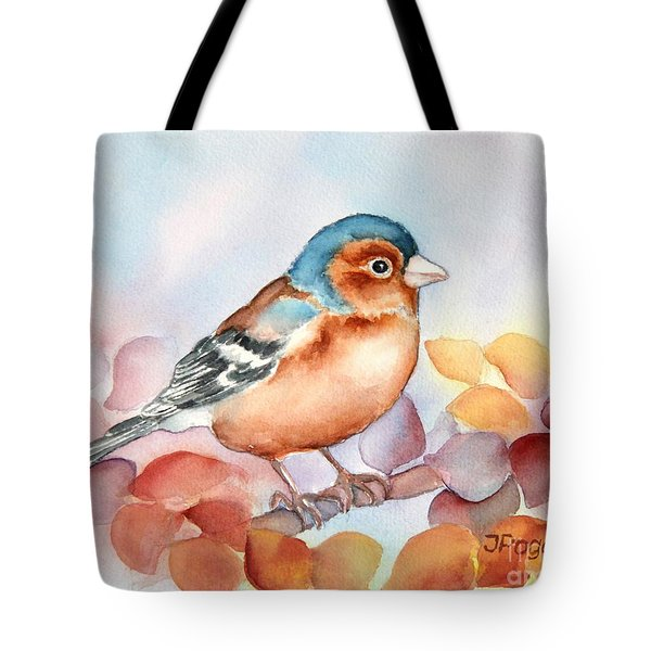 Chaffinch 2 Tote Bag by Inese Poga