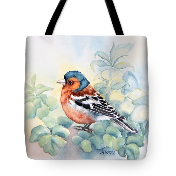 Chaffinch In Grass Tote Bag