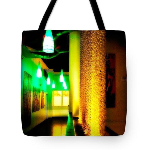 Chain Lighting Tote Bag by Melinda Ledsome