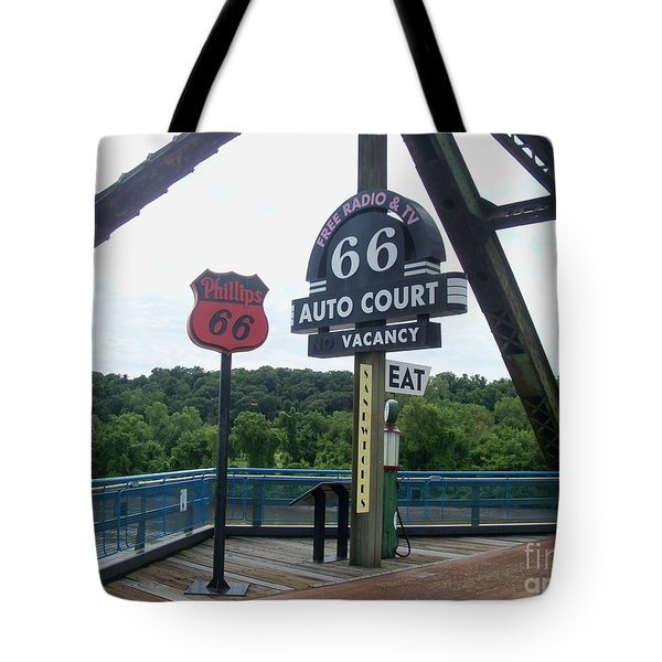 Tote Bag featuring the photograph Chain Of Rocks Bridge by Kelly Awad