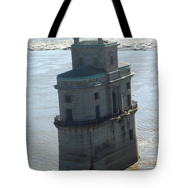 Tote Bag featuring the photograph Chain Of Rocks by Kelly Awad