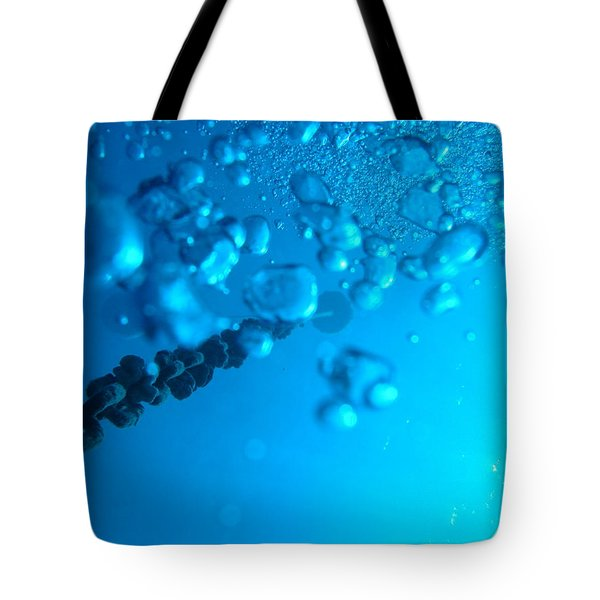 Tote Bag featuring the photograph Chained Bubbles by Mim White