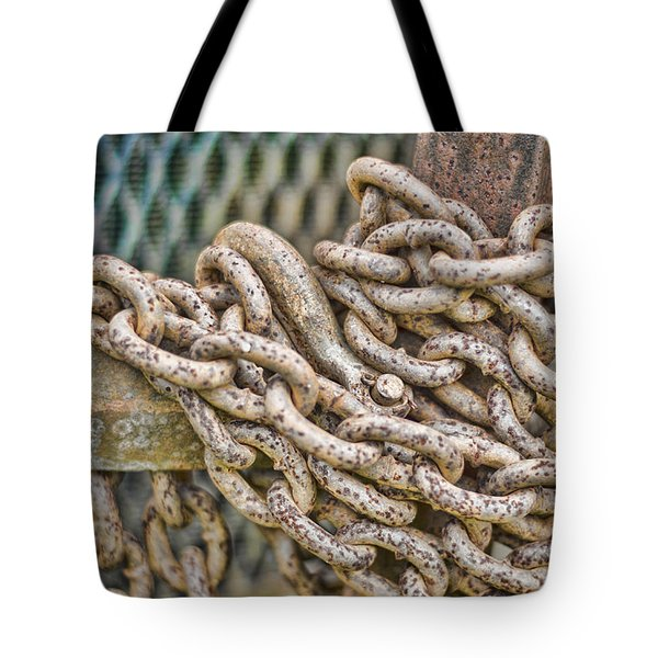 Chained Up Tote Bag by Heather Applegate