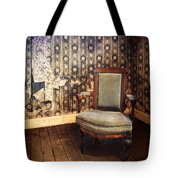 Chair In Abandoned Room Tote Bag by Jill Battaglia