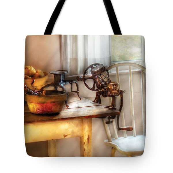 Chair - Kitchen Preparations  Tote Bag by Mike Savad