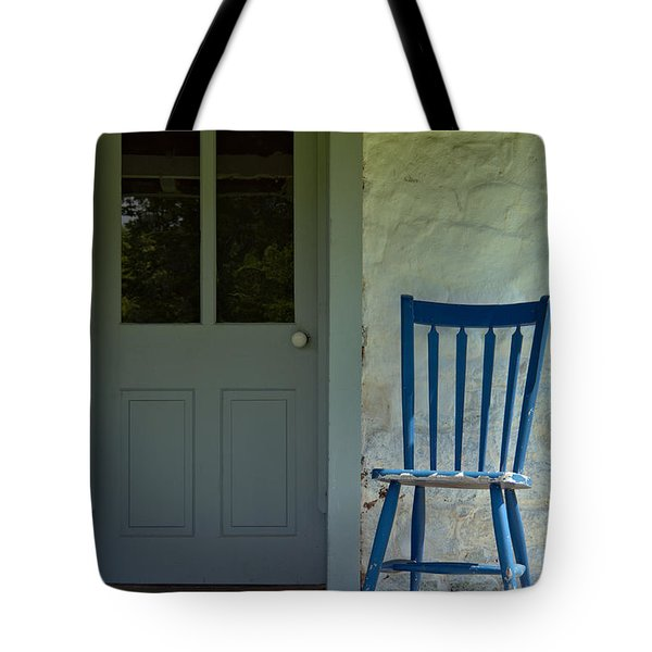 Chair On Farmhouse Porch Tote Bag