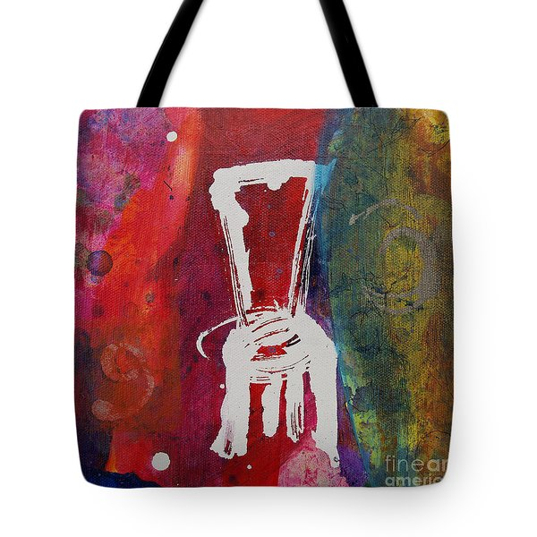 Tote Bag featuring the painting Chair by Robin Maria Pedrero