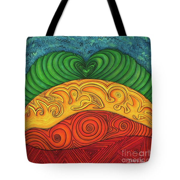 Chakra Ascension Tote Bag by Deborha Kerr