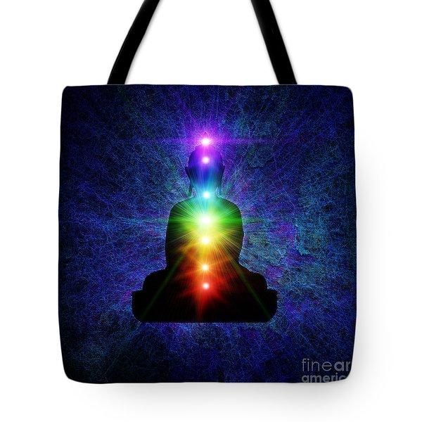 Chakra Buddha Tote Bag