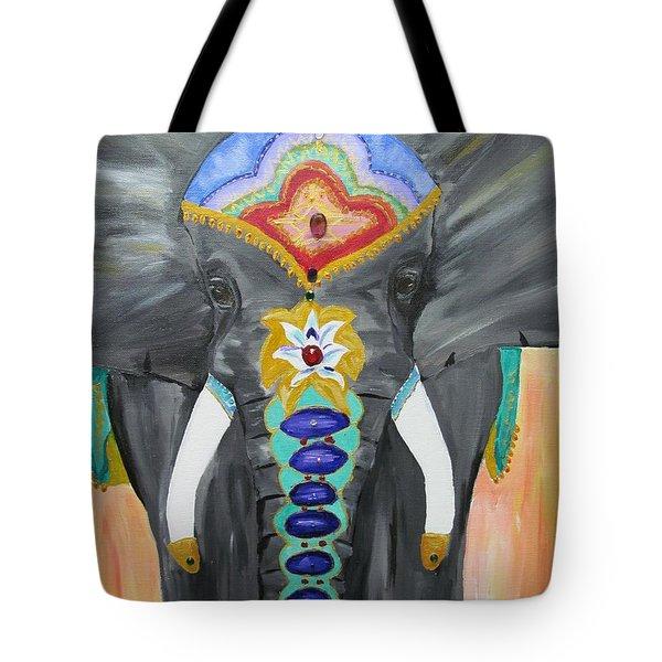 Chakra Elephant Tote Bag
