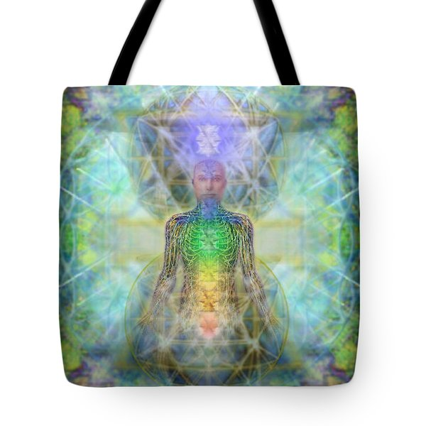 Chakra Tree Anatomy In Chalice Garden Tote Bag