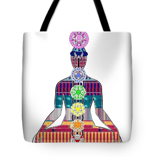Chakra Yoga Mandala  Buy Faa Print Products Or Down Load For Self Printing Navin Joshi Rights Manage Tote Bag