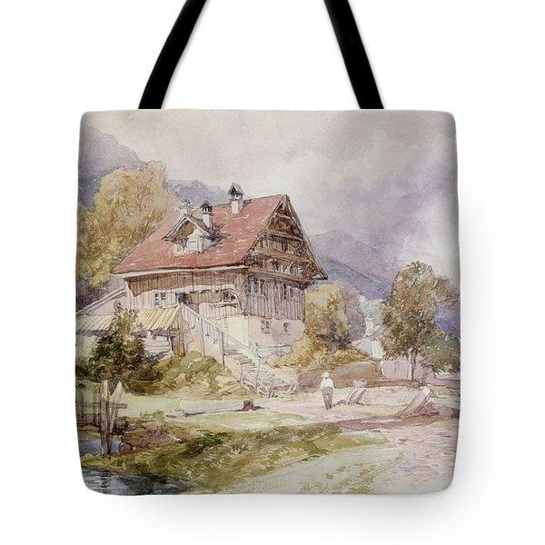 Chalet, Brunnen, Lake Lucerne Tote Bag by James Duffield Harding