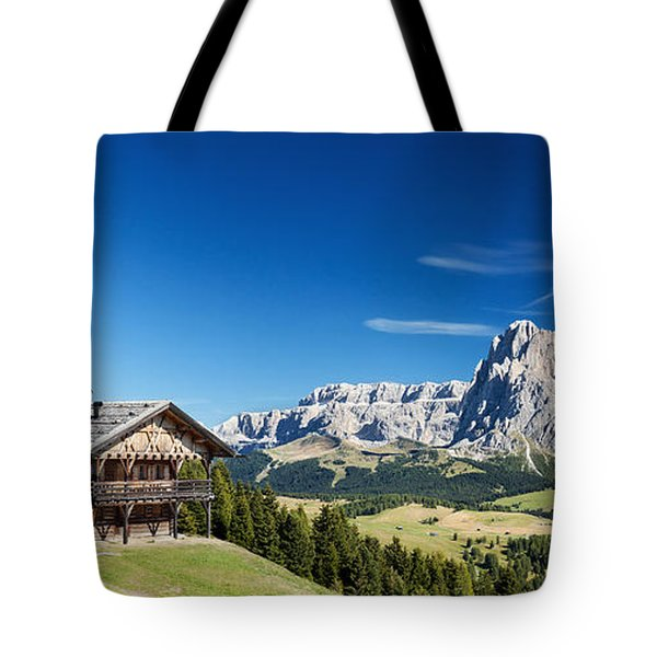Tote Bag featuring the photograph Chalet In South Tyrol by Carsten Reisinger