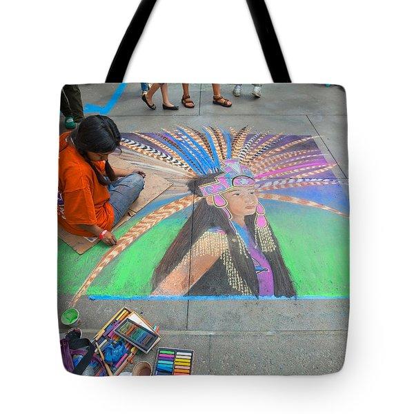 Pasadena Chalk Art - Street Photography Tote Bag