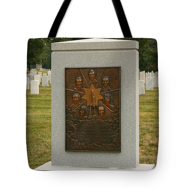 Challenger Space Shuttle Memorial Tote Bag