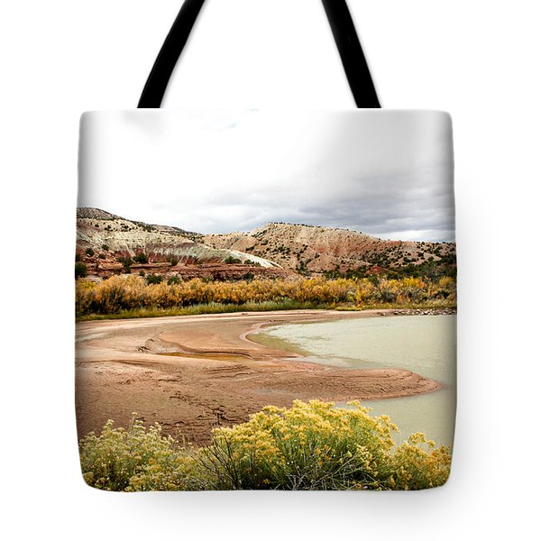 Tote Bag featuring the photograph Chama River Swim Spot by Roselynne Broussard