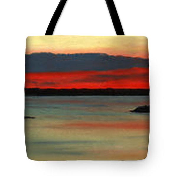 Chambers Island Sunset II Tote Bag