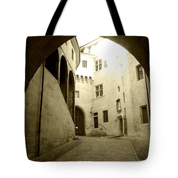 Tote Bag featuring the photograph Chambery France Gate by Katie Wing Vigil